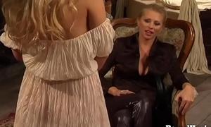 On Carload 3: Juvenile Blonde Usherette On Her Submissive Training
