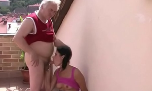 Piping hot old father fucks son'_s girlfriend