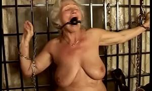 Granny Norma serves the brush Master