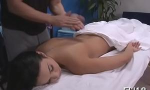 Nude beauty massage