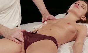 Teen Christy in rapturous massage